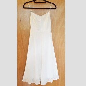 J. Crew Spaghetti Strap White Cotton Dress Size 2